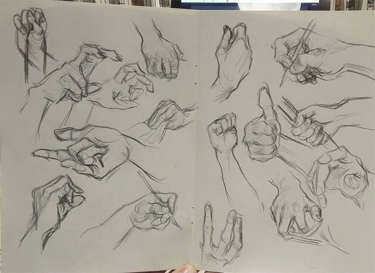 Sketchbook hand drawings