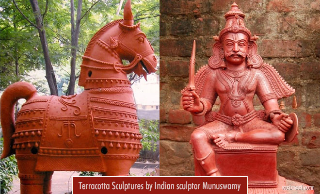 Indian Sculptor amazes the world with his life sized Terracotta Sculptures - Munuswamy